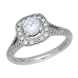 Amoro 18kt White Gold Diamond Ring (0.5 cttw, G Color, VS1 Clarity)