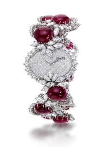Piaget Cabochon Ruby and Diamond Watch