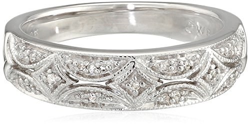 Sterling Silver Diamond Band Ring (1/20 cttw)