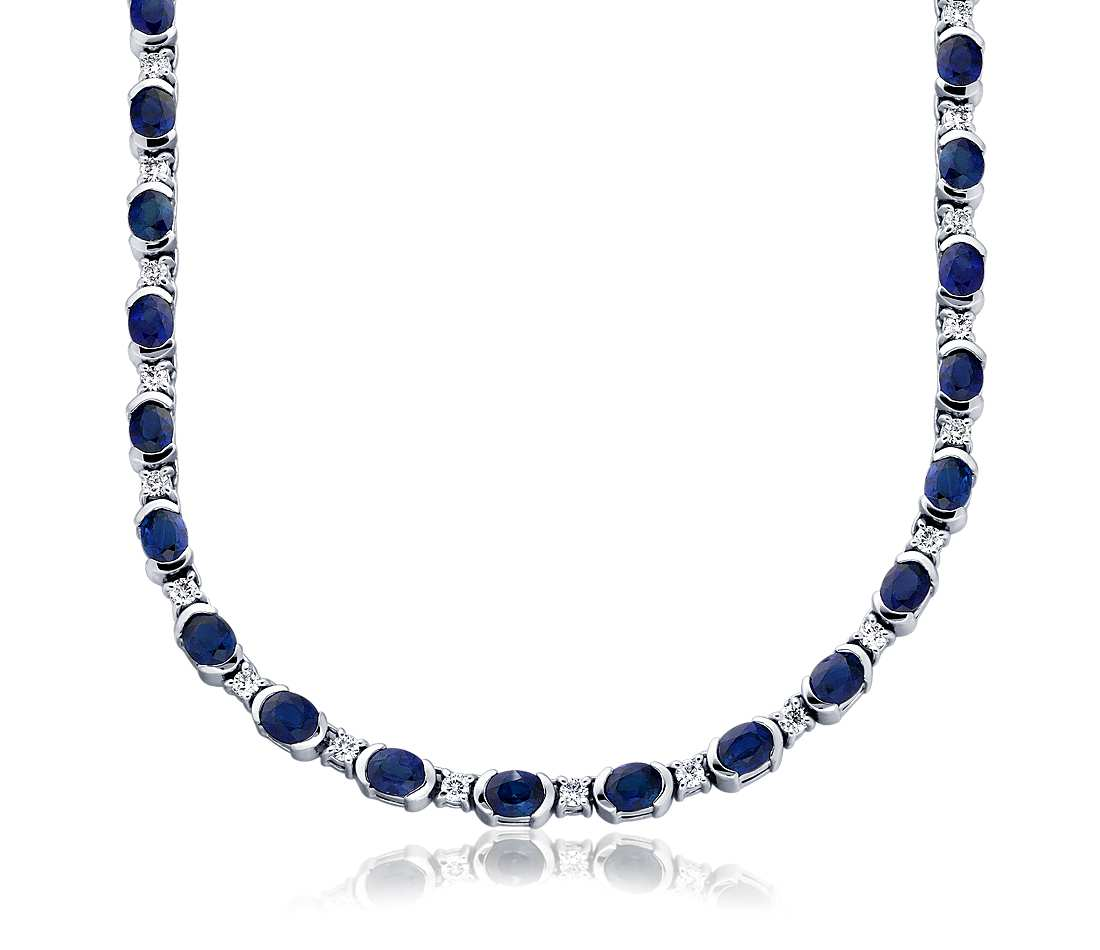 Gorgeous gems and jewelry page 55 gems jewelry rings pendants sapphire and diamond necklace in 18k white gold aloadofball Image collections