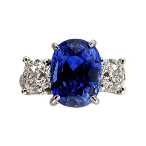 Vintage Engagement 8.97ct Natural Cornflower Blue Sapphire Diamond Ring Platinum