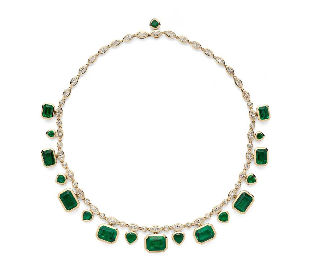 Estate Emerald and Diamond Statement Necklace (52.71 ct. tw.)