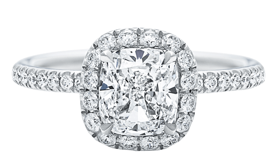 The One, Cushion-Cut Diamond Micropavé Engagement Ring