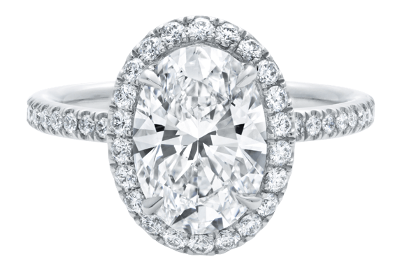 The One, Oval-Shaped Diamond Micropavé Engagement Ring