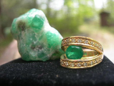 Gorgeous North Carolina Emerald Ring