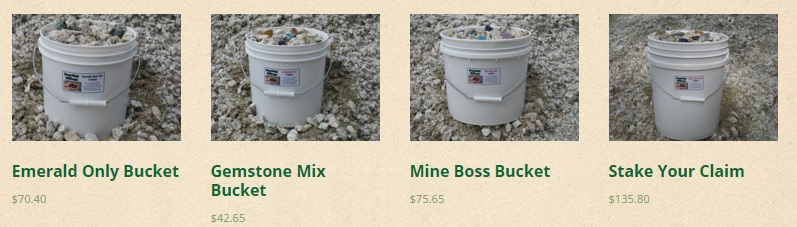 Emerald and Gemstone Buckets