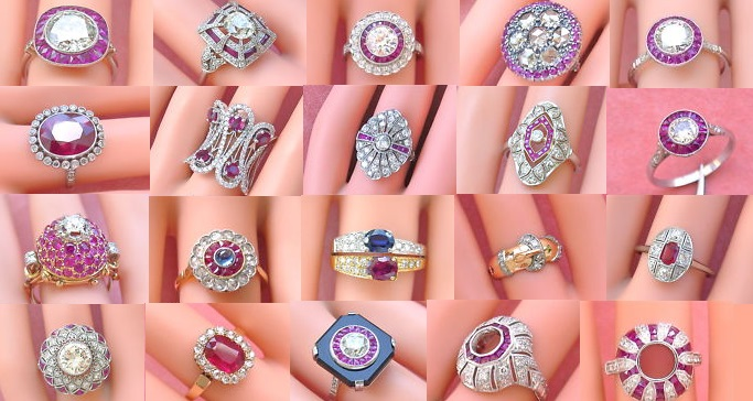 Gorgeous Vintage Ruby and Diamond Estate Rings