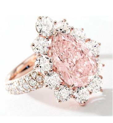 Fancy Light Pink Diamond and Diamond Ring