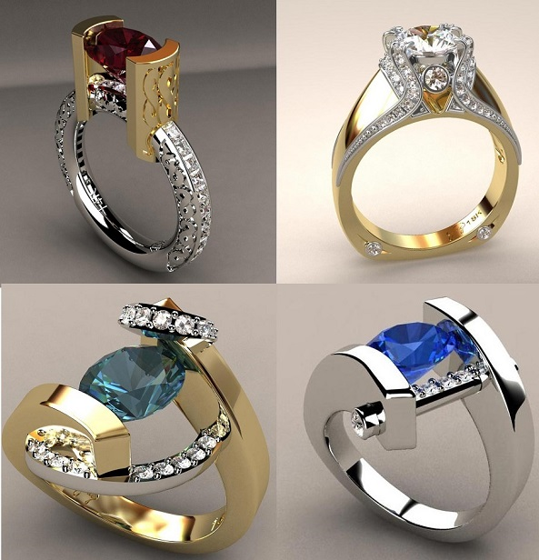 Gorgeous Gemstone and Diamond Designer Rings
