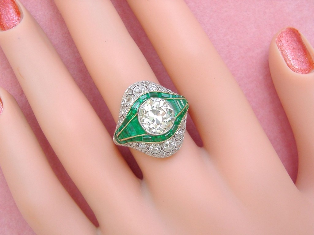 gold ring white product diamond emerald gia engagement cut