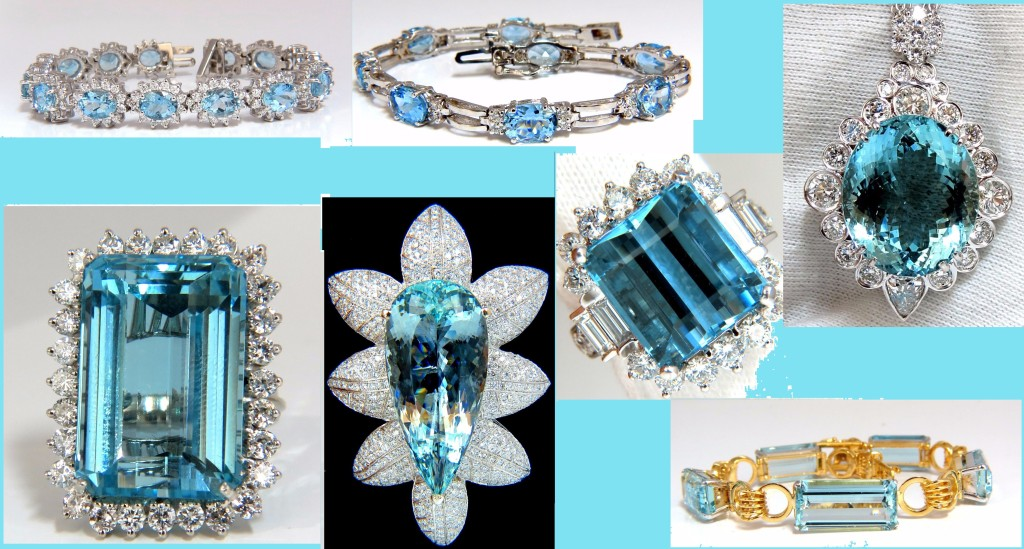 Vivid Sea Blue Aquamarine Jewelry