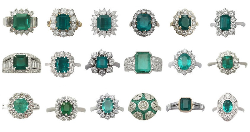 Gorgeous Vintage Emerald Rings