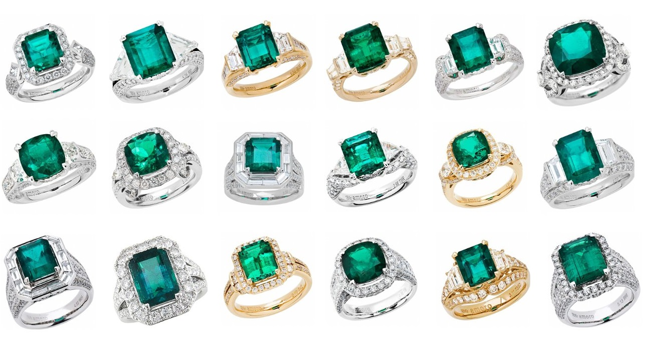Gorgeous Selection of Colombian Emerald Rings