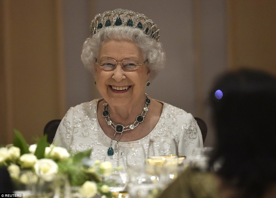 Queen Elizabeth attended a dinner held at the Corinthia Hotel wearing this gorgeous Tiara.