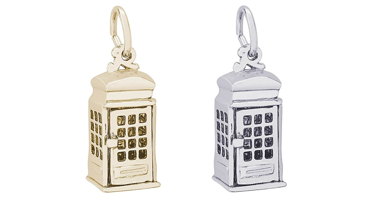 Rembrandt Charms, TARDIS, Solid Sterling Silver or Gold