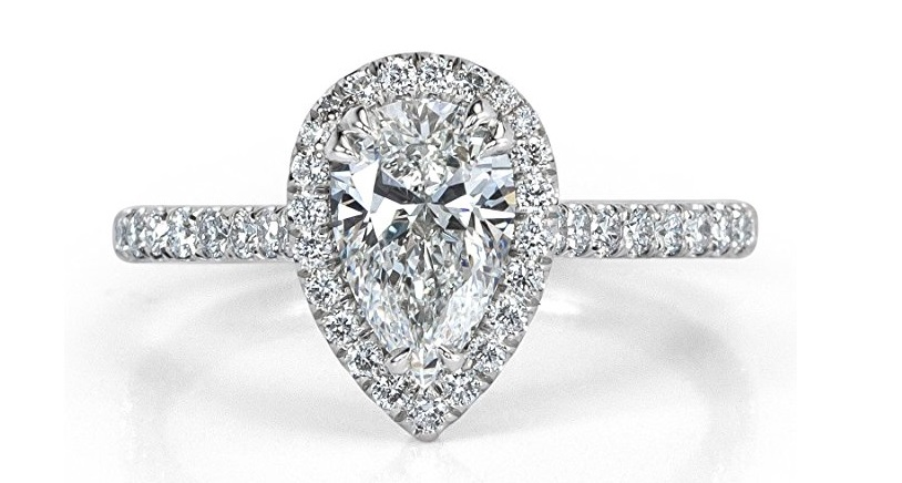 1.42ct Pear Shaped Diamond Engagement Ring by Mark Broumand