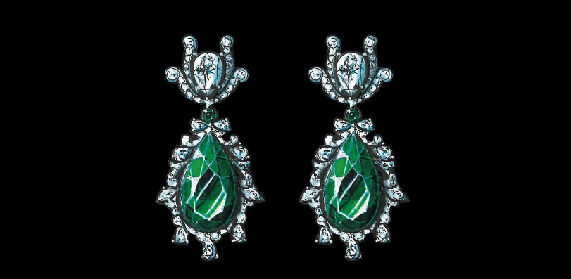 Chopard Emerald and Diamond Earrings