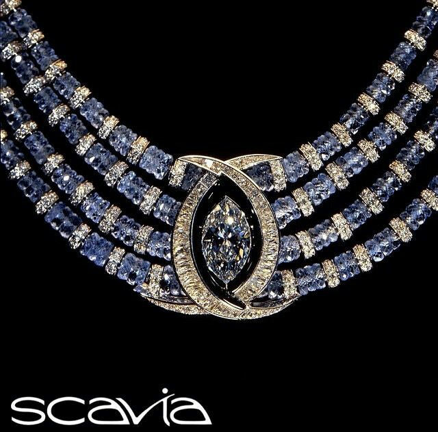A Gorgeous Sapphire and Diamond Necklace