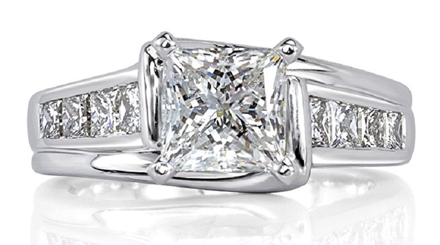 2.01ct Princess Cut Diamond Engagement Ring