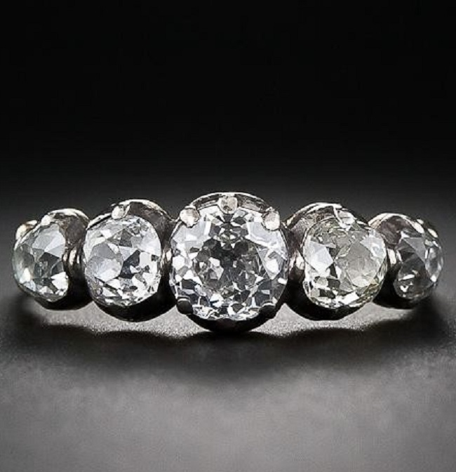 Georgian Five-Stone Diamond Ring.