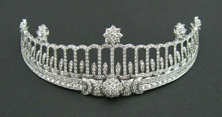 The Baden Tiara Baden Tiara, Germany (made by Cartier; diamonds). Once belonged to Princess Hilda of Nassau, Grand Duchess of Baden.