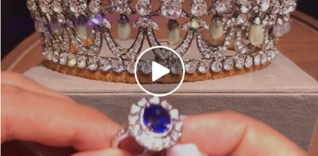 Princess Diana Tiara and Sapphire Diamond Ring