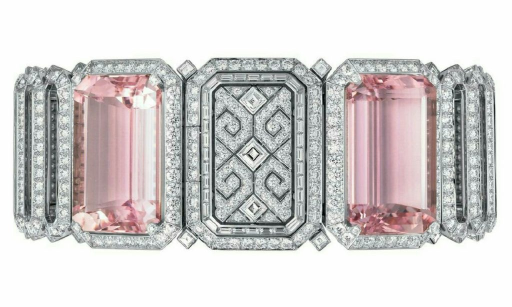 Kunzite and Diamond Bracelet by Cartier