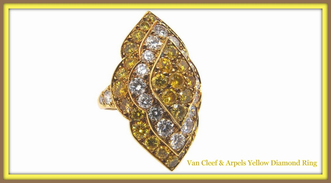 Yellow Diamond Ring by Van Cleef and Arpels