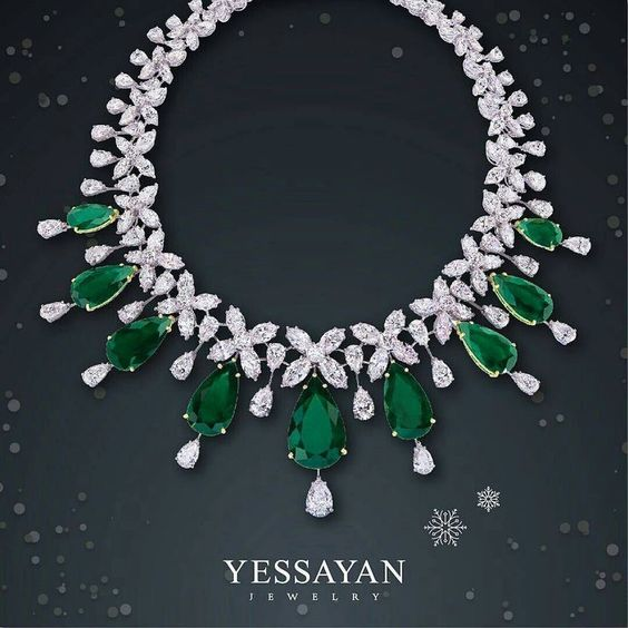 Spectacular Emerald and Diamond Necklace
