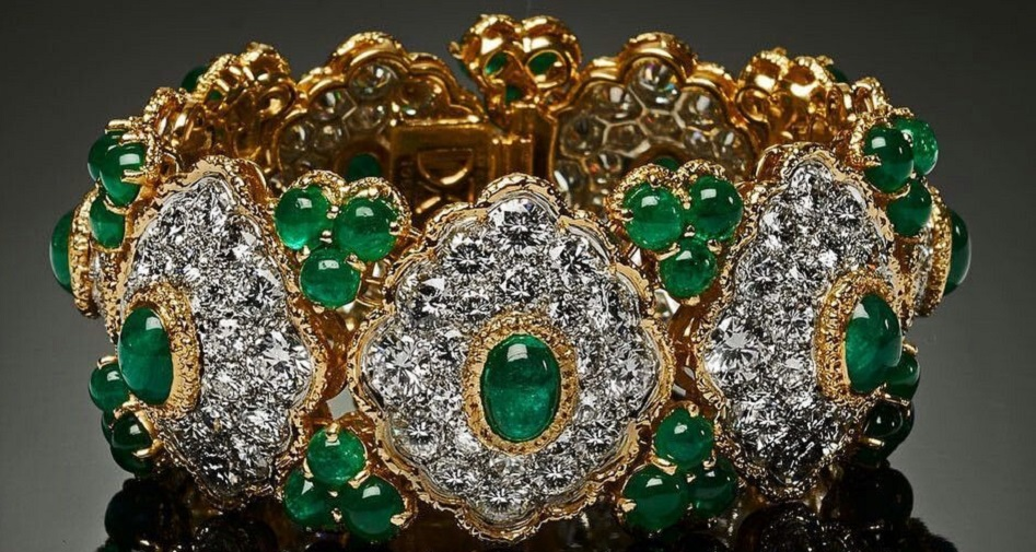 Emerald and Diamond Bracelet by Van Cleef & Arpels , Circa 1960