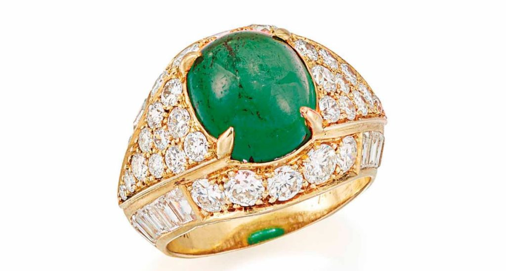 Emerald and Diamond Ring by Van Cleef & Arpels