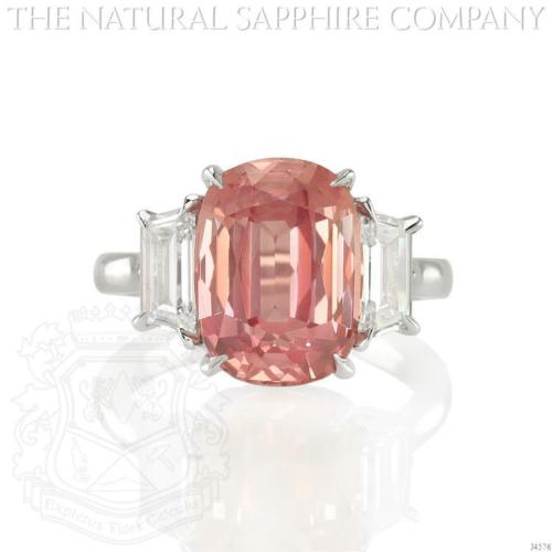 Padparadscha Sapphire Ring