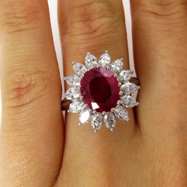 Gorgeous 3.03 Ct Ruby and Diamond Ring