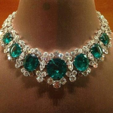 A Gorgeous Emerald and Diamond Necklace