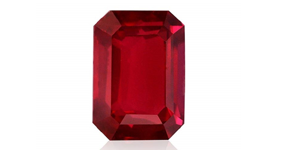 2.51Cts Vivid Red Ruby Loose Gemstone Octagon Shape GRS Certificate