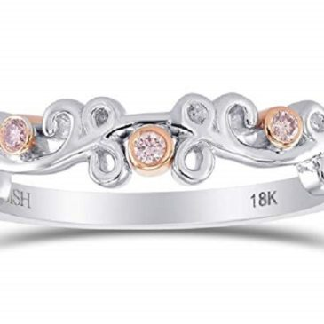 Diamond Band Ring Set in 18K White Rose Gold