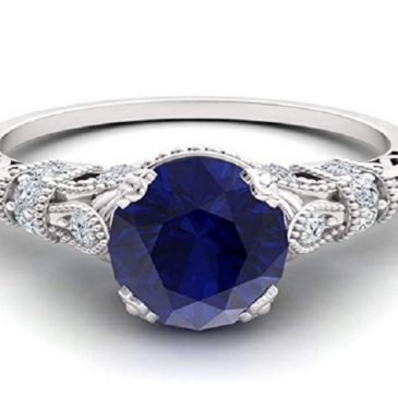 An Intricately Designed Sapphire and Diamond Ring